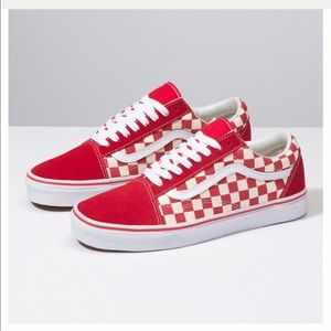 VANS red checkered old skools